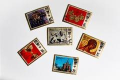 Francobolli dell'Unione Sovietica L'URSS Immagini Stock Libere da Diritti