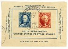 Francobolli di anniversario degli Stati Uniti 100th Immagine Stock