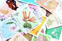 Francobolli di Cuba Fotografia Stock