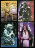 Francobolli di Star Wars Stati Uniti Immagine Stock