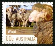 Francobollo australiano della lana Fotografia Stock Libera da Diritti