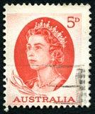 Francobollo australiano della regina Elizabeth II Immagini Stock
