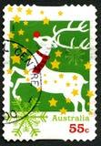 Francobollo australiano di Natale Fotografie Stock Libere da Diritti
