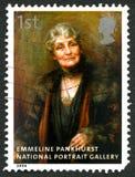 Francobollo BRITANNICO di Emmeline Pankhurst Immagini Stock Libere da Diritti