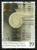Francobollo BRITANNICO di fiducia nazionale Immagini Stock Libere da Diritti