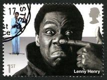 Francobollo BRITANNICO di Lenny Henry Fotografie Stock Libere da Diritti
