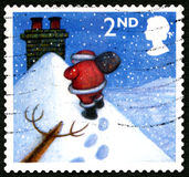 Francobollo BRITANNICO di Natale Immagini Stock Libere da Diritti