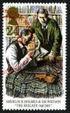 Francobollo BRITANNICO di Sherlock Holmes Fotografia Stock Libera da Diritti