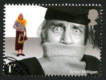 Francobollo BRITANNICO di Spike Milligan Fotografie Stock