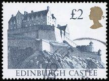 Francobollo - castello di Edimburgo Fotografia Stock