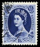 Francobollo d'annata della regina Elizabeth II Immagini Stock Libere da Diritti