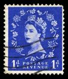 Francobollo d'annata della regina Elizabeth II Immagine Stock