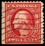 Francobollo degli Stati Uniti dell'annata Fotografia Stock Libera da Diritti