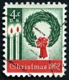 Francobollo degli Stati Uniti di Natale 1962 Immagini Stock