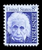 Francobollo del Albert Einstein Fotografia Stock Libera da Diritti