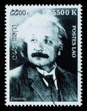 Francobollo del Albert Einstein Fotografia Stock