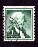 Francobollo del George Washington S.U.A. 1c dell'annata Fotografia Stock