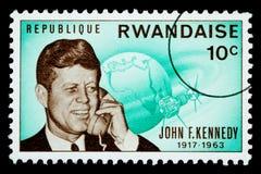 Francobollo del John F. Kennedy Fotografia Stock