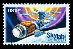 Francobollo del laboratorio del cielo dello spazio Immagine Stock