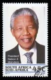 Francobollo del Nelson Mandela Sudafrica Fotografia Stock Libera da Diritti
