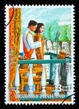 Francobollo del regno di Thailandia Immagine Stock Libera da Diritti