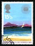 Francobollo del Regno Unito di giorno di commonwealth 1983 Immagini Stock