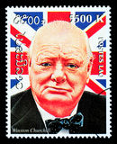Francobollo del Winston Churchill Fotografia Stock Libera da Diritti