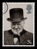 Francobollo del Winston Churchill Fotografie Stock Libere da Diritti