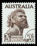 Francobollo dell'uomo dell'aborigeno Fotografia Stock