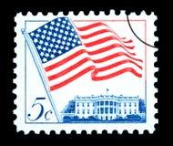 Francobollo della bandiera americana Immagini Stock Libere da Diritti