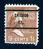 Francobollo della Martha Washington S.U.A. 1.5c dell'annata Immagine Stock Libera da Diritti