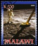 Francobollo di Apollo 11 dal Malawi Fotografia Stock Libera da Diritti