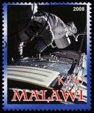 Francobollo di Apollo 17 dal Malawi Fotografie Stock Libere da Diritti