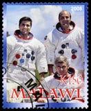 Francobollo di Apollo 17 dal Malawi Immagine Stock Libera da Diritti