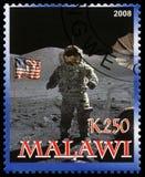 Francobollo di Apollo 17 dal Malawi Fotografie Stock