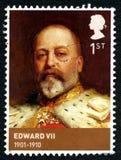 Francobollo di Edward VII Regno Unito Fotografia Stock