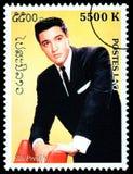 Francobollo di Elvis Presely Fotografie Stock