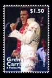 Francobollo di Elvis Presely Immagine Stock