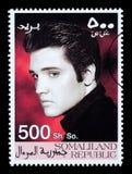 Francobollo di Elvis Presley Immagine Stock Libera da Diritti