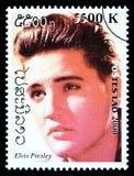 Francobollo di Elvis Presley Fotografie Stock Libere da Diritti