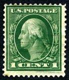 Francobollo di George Washington U.S.A. Fotografie Stock Libere da Diritti