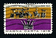 Francobollo di Magna Carta Stati Uniti Immagine Stock Libera da Diritti