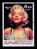 Francobollo di Marilyn Monroe Immagini Stock