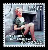 Francobollo di Marilyn Monroe Fotografia Stock Libera da Diritti