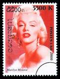 Francobollo di Marilyn Monroe Immagini Stock Libere da Diritti