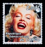 Francobollo di Marilyn Monroe Fotografie Stock