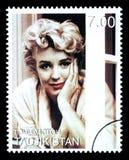 Francobollo di Marilyn Monroe Immagine Stock
