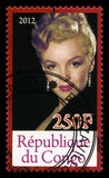 Francobollo di Marilyn Monroe Fotografia Stock