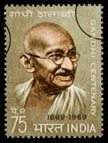 Francobollo di Mohandas Karamchand Gandhi Fotografia Stock