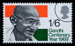 Francobollo di Mohandas Karamchand Gandhi Fotografie Stock Libere da Diritti